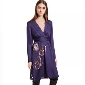 ALTUZARRA Traget Orchid Print Purple dress SZ 4